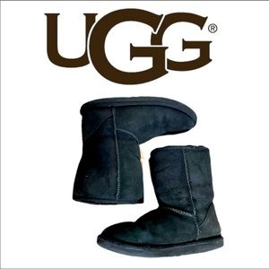 UGG Black Classic Mini Shearling Lined Boot